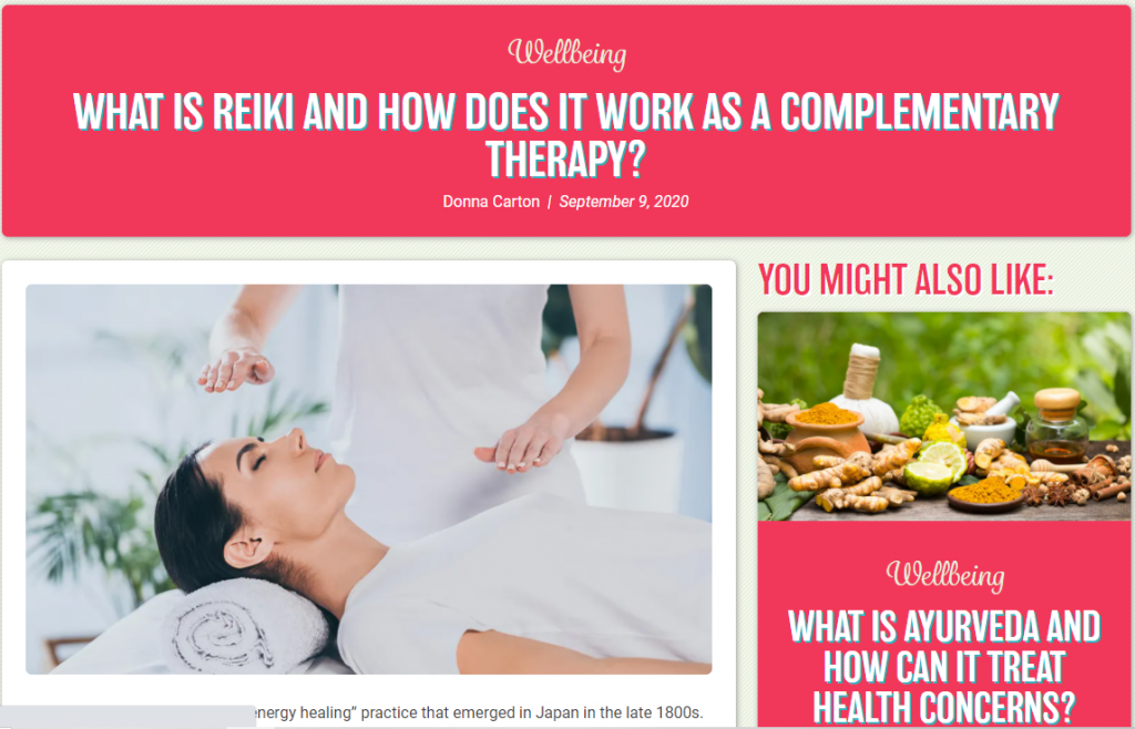What is Reiki and how does it work as a complementary therapy?