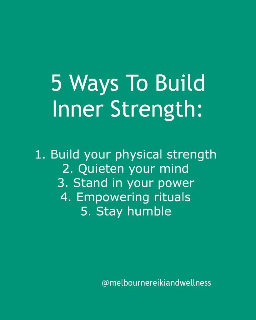 5 ways to build inner strength